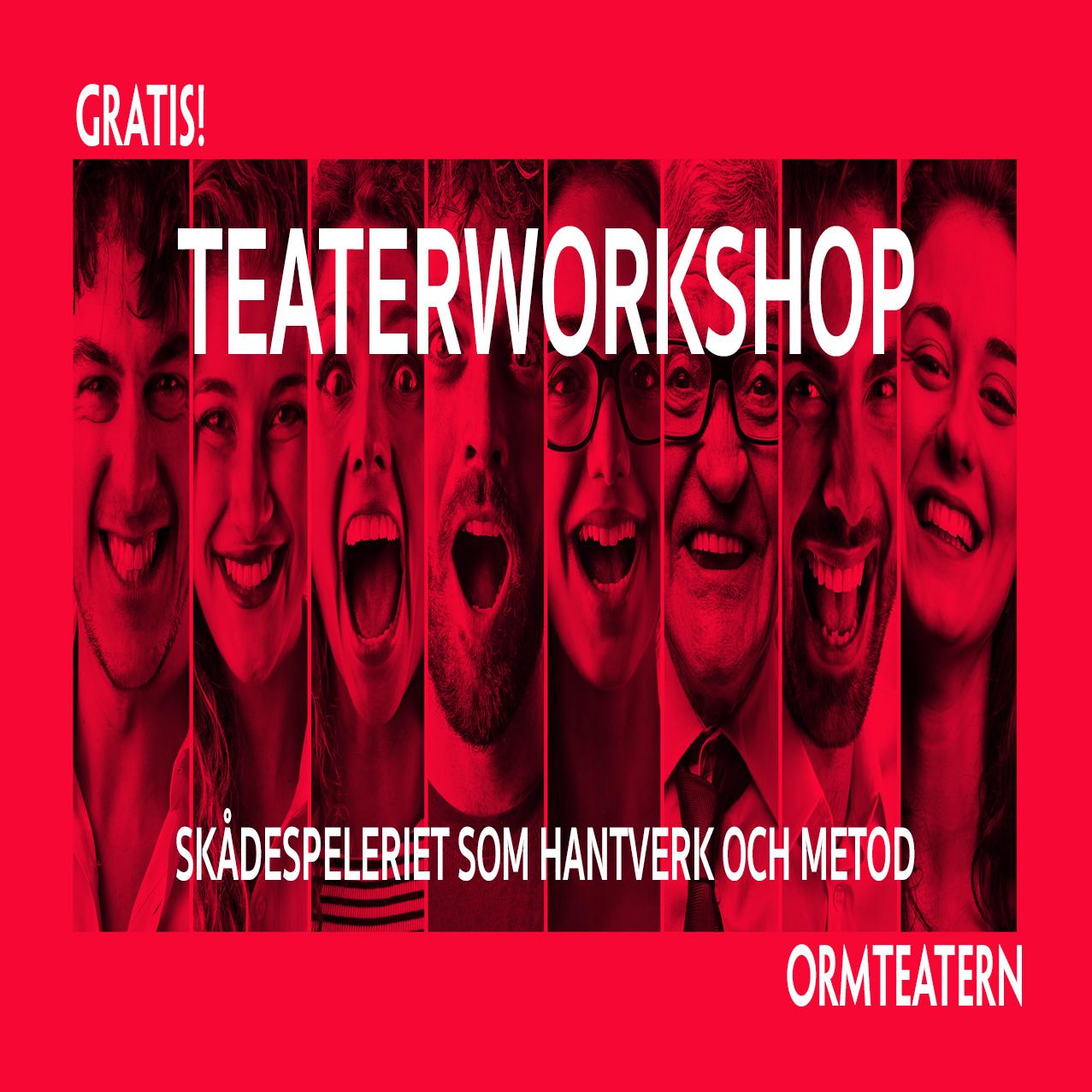 Teaterworkshop 25 sept, 23 okt, 20 nov